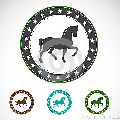 Set of  horse label