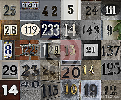 Set of house numbers