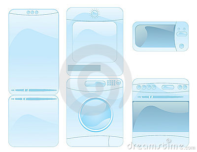 Set of household electronics