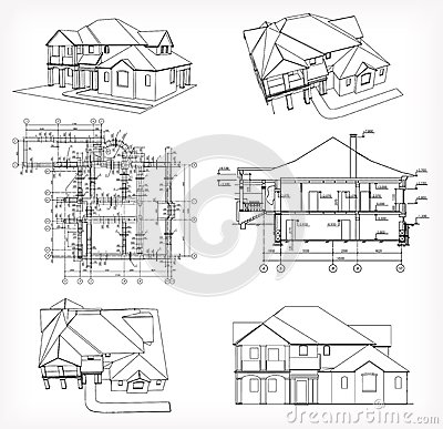 Architecture Houses Blueprints modern architecture house plans. modern. home plan and house