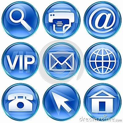 Set icon blue #02.