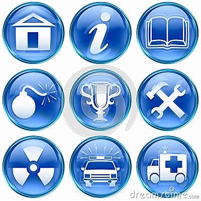 Set icon blue #10.