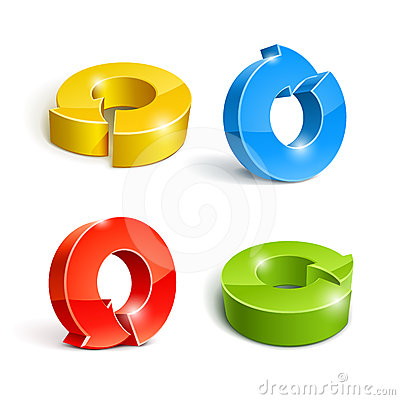 Set of icon pointer arrow 3d