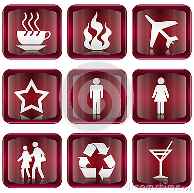 Set icon red #01.