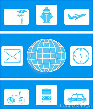 Set of icon on travel