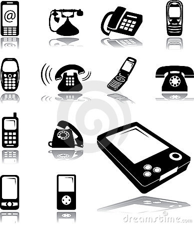 Set icons - 134. Phones