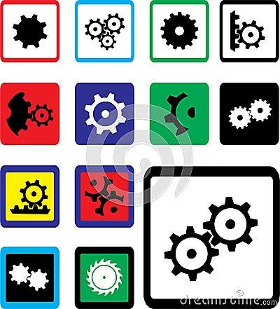 Set icons - 18B. Gears