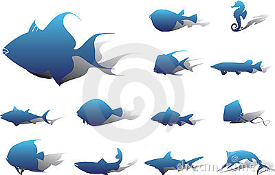Set icons - 22A. Fish