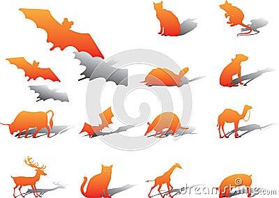 Set icons - 76A. Animals