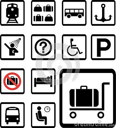 Set icons 84B. Transport icons