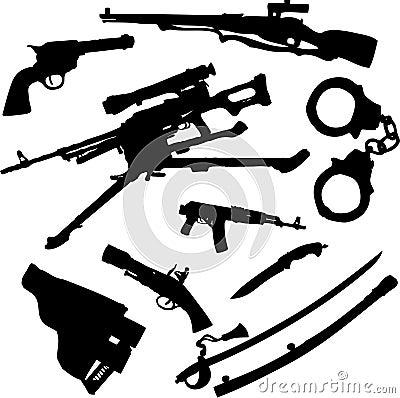 Free Set Icons - 91C. Weapon Stock Image - 8486541
