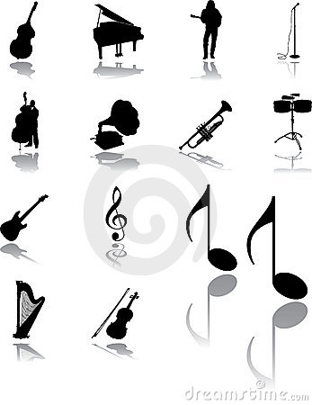 Free Set Icons - 95. Music Royalty Free Stock Image - 11498656