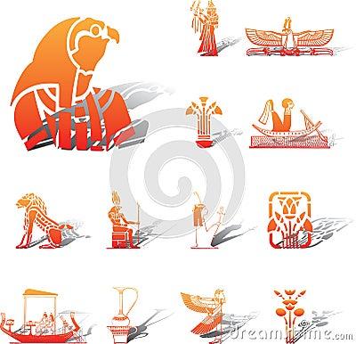 Set icons - 96A. Egypt