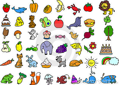 set of icons animals,vector