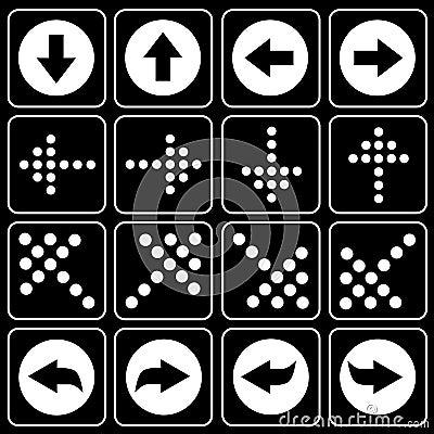 Set of icons (arrow)