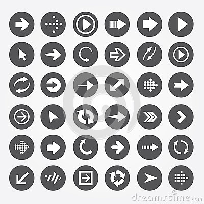 Set of  icons arrow