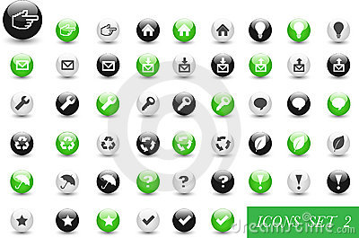 Set of icons or buttons