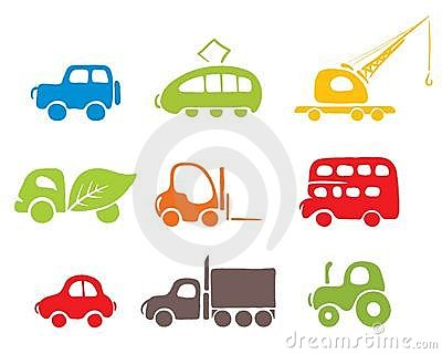 Set of icons -- cars