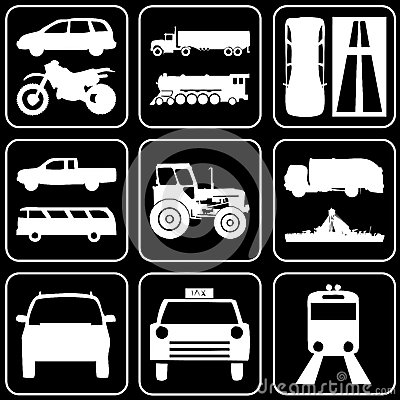 Set of icons (cars)