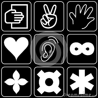 Set of icons (hands, others)