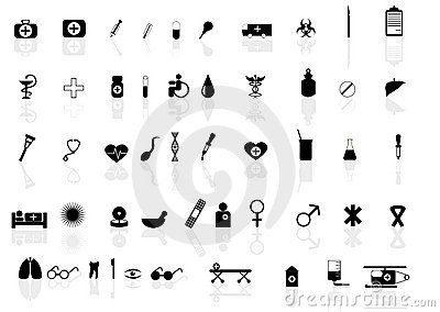 Set of icons for health topic
