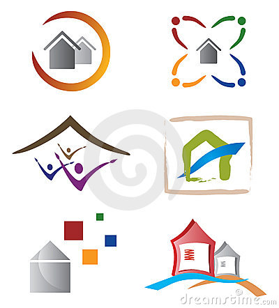 Set of Icons and Logo Elements Home / House