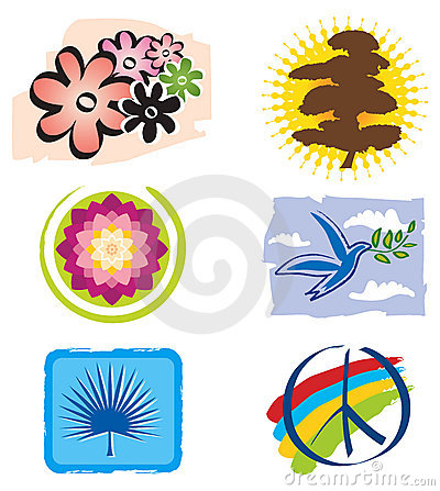 Set of Icons Lotus Flower for Logo Designs