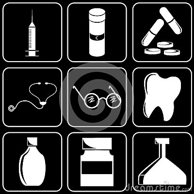 Set of icons (medicine)