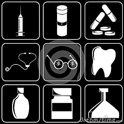 Set of icons (medicine)