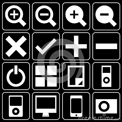 Set of icons (music, player)
