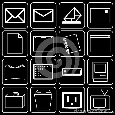 Set of icons (office)