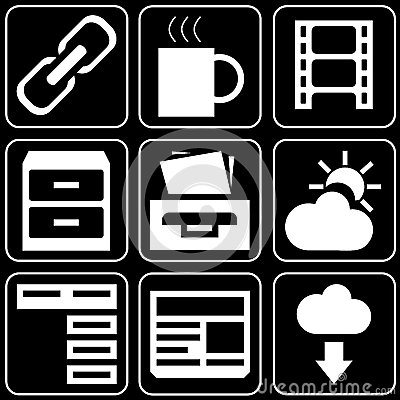 Set of icons (office, work)