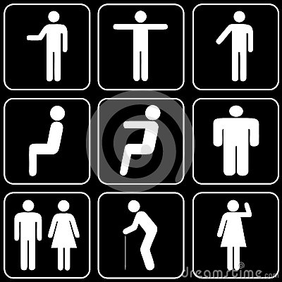 Set of icons (people)