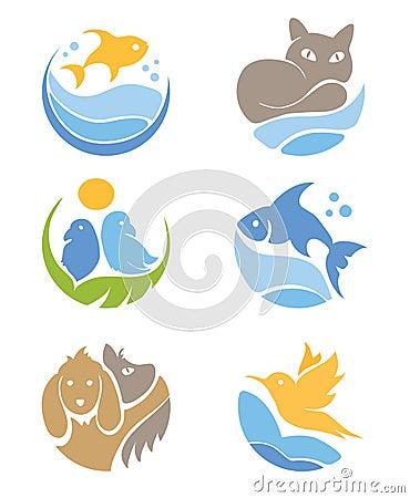 A set of icons - Pets