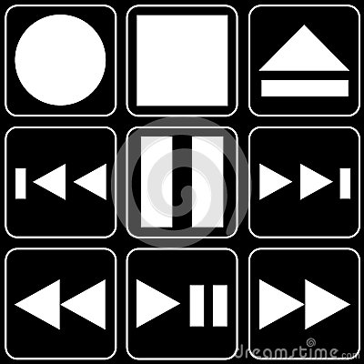Set of icons (player, music)