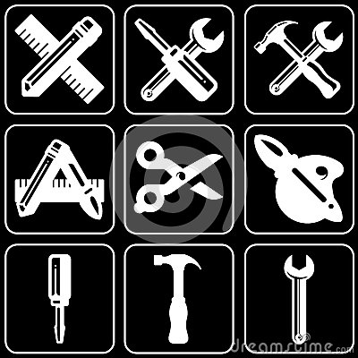 Set of icons (repair, build, construction)