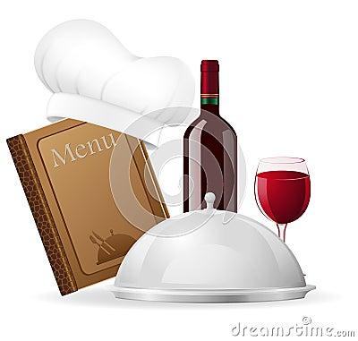 Set icons for restaurant vector illustration