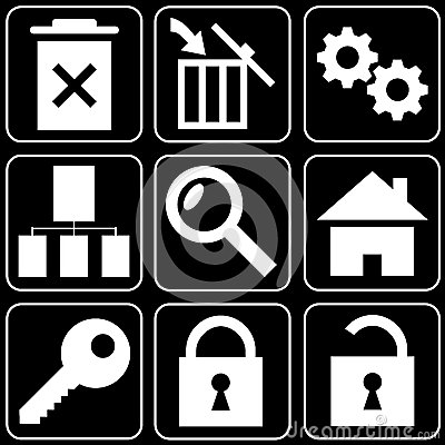 Set of icons (safety, office)