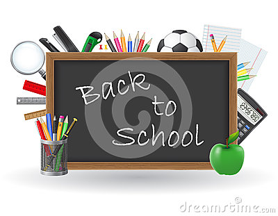 Set icons school supplies vector illustration