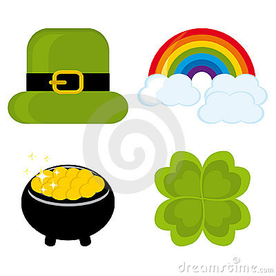 Set of icons for St. Patrick s day