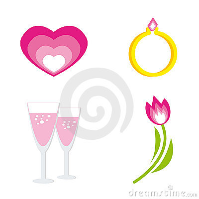 Set of icons for st. Valentine day