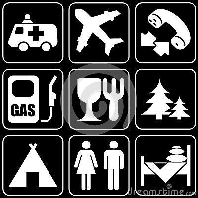 Set of icons (travel)