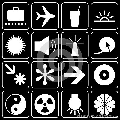 Set of icons (travel, others)