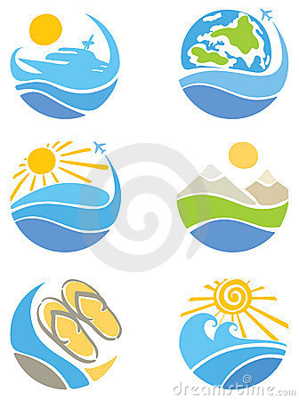 A set of icons - Travel, Tourism and Leisure