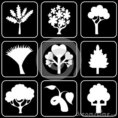 Set of icons (trees)