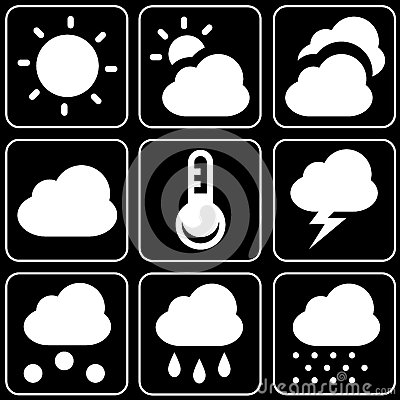 Set of icons (weather forecast)