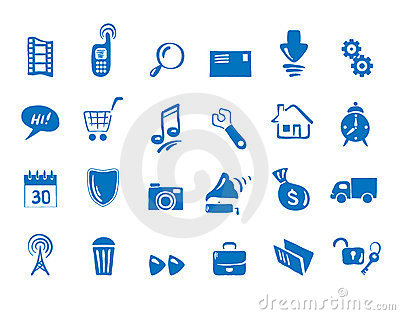 Set - Icons for web and communications