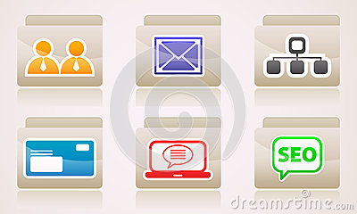Set of icons for your desktop folders web