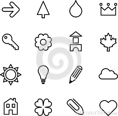 Set of illustrated icons