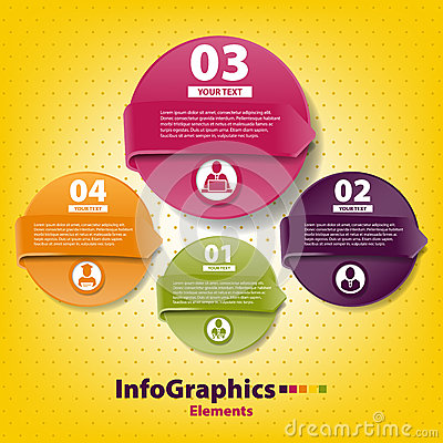 Set infographic on teamwork